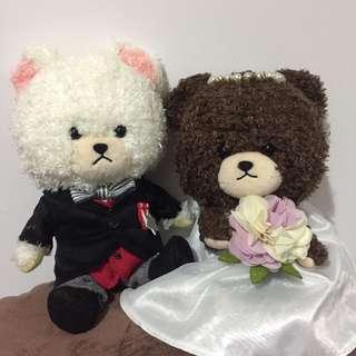The Bears School Jackie & David 結婚公仔一對