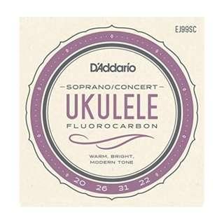 D'Addario - Soprano/Concert Ukulele Fluorocarbon strings   ( EJ99SC )