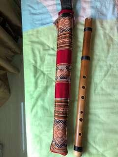 Flute Quenacho Key C - South American/Andean (made of solid bamboo)