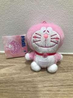 Sakura Doraemon Keychain Plush
