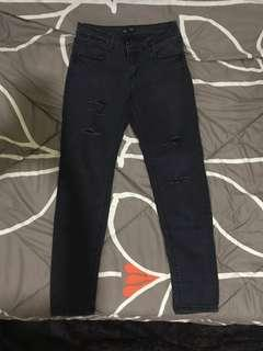 colorbox black ripped jeans