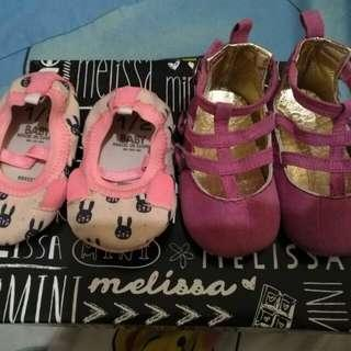 Take both old navy and cotton on baby shoes