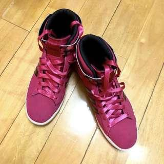 Price down🔥Adidas Neo dark pink shoes 桃紅色高筒波鞋