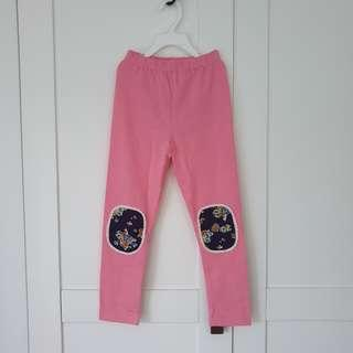 🚚 [Size 120 For Age 5-6 / Older] Girls' / Kids' / Children's Pink Colour Cotton Leggings Tights