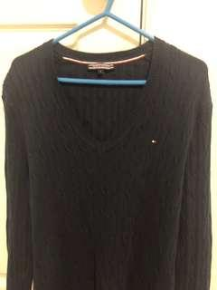 TOMMY HILFIGER CABLE KNIT SWEATER JUMPER NAVY