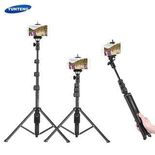 YUNTENG VCT-1388 Selfie Stick Tripod Aluminum Max. Load 0.5kg with Phone Hoder Remote Control for Smartphones Action Cameras