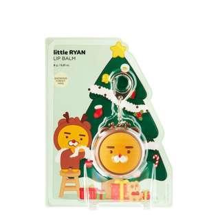 全新The Face Shop KAKAO FRIENDS 聖誕限定 護唇膏 鑰匙圈 RYAN
