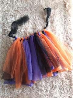 Halloween Tie-knot Tulle Skirt