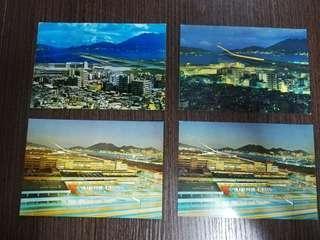 60-70年代 香港 啓德機塲明信片