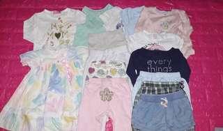 Set A baby girl 12-18mos