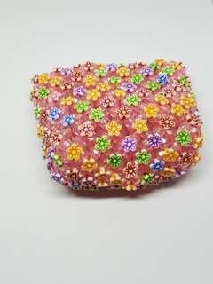 🚚 Cute floral purse with zip