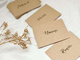 🚚 Kraft paper name placecards