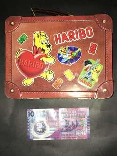 HARIBO travel case 旅遊 鐵盒 tin can box