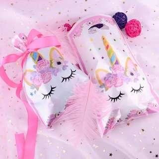 Unicorn theme party supplies - party loot bags / piñata bags / gift bags / goodie bags