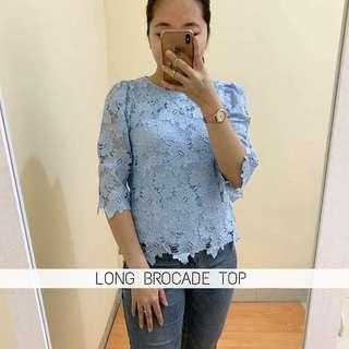 LONG BROCADE TOP