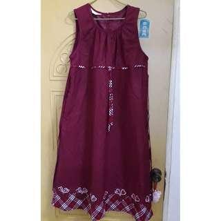 孕婦裝  孕婦洋裝  背心洋裝  紅色洋裝