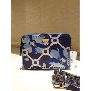 Guess Women's Crossbody Bag With Flower Print VY695912 - Blue