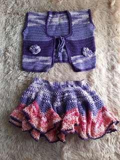 Knitted Vest / Skirt