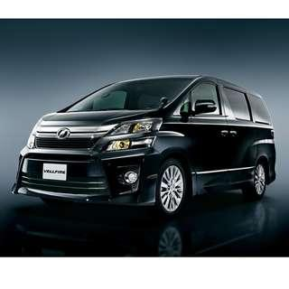 Toyota Vellfire 2014 for lease