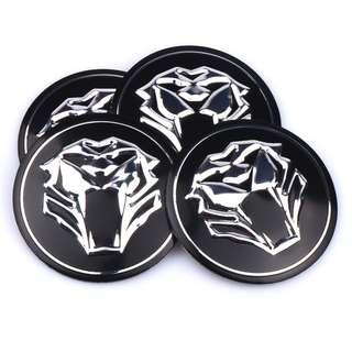 4Pcs Tiger Design Car Center Wheel Accessory Car External Styling Quick to Install