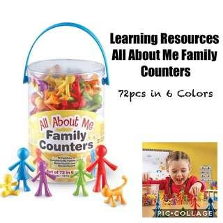 Sales! *Brand New* Learning Resources All About Me Family Counters Educational Tools for Homeschooling (Great for Holiday Traveling Busy Activities ) Tot / Home School Math Teaching Learning Resources