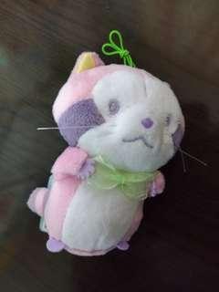 全新日本直送景品小浣熊Rascal小熊貓粉彩粉紅版