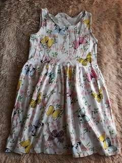 H&M Butterfly Cotton Dress