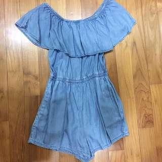 F21 Off-Shoulder Romper