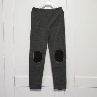 🚚 [Size 130 For Age 6-7 / Older] Girls' / Kids' / Children's Dark Grey Colour Cotton Leggings Tights