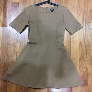 Topshop Brown Skater Dress