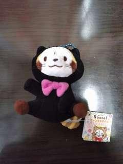 全新日本直送景品小浣熊Rascal小熊貓黑色頭套版