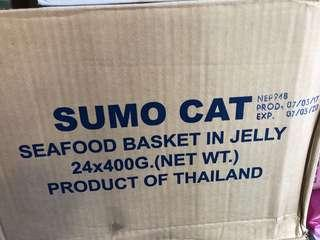 Sumo Cat Seafood Basket in jelly (24 cans)