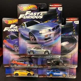 Hot Wheels Fast & Furious 1 set