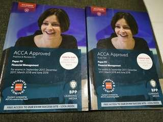 🚚 ACCA F9 2018 edition study text and revision kit books