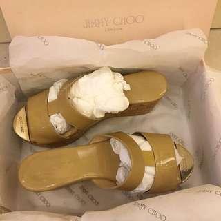 Jimmy Choo 大地色楔形鞋