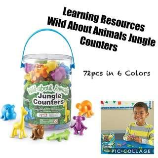 *Brand New* Learning Resources Wild About Animals Jungle Counters Educational Tools for Homeschooling (Great for Holiday Traveling Busy Activities ) Tot / Home School Math Teaching Learning Resources