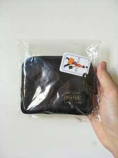 Porter black nylon wallet pouch