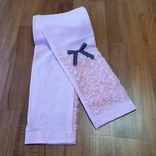 🚚 [Size 130 For Age 6-7 / Older] Girls' / Kids' / Children's Pink Colour Cotton Leggings Tights