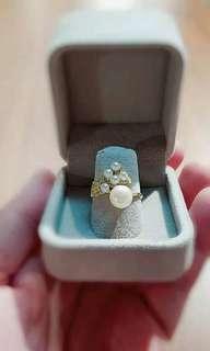 淡水珍珠純銀介指