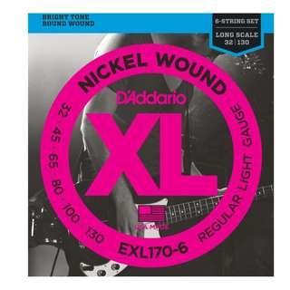 D'Addario - 6 strings Bass guitar strings sets  ( EXL170-6 )