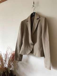 Vintage 麻 質感西裝外套