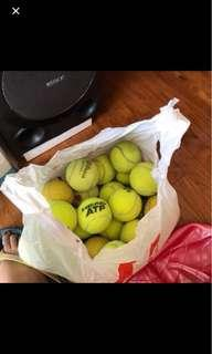 20 used tennis balls  selling very cheap