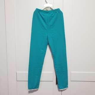 🚚 [Size 130 For Age 6-7 / Older] Girls' / Kids' / Children's Greenish-Blue / Green-Blue / Cyan / Aqua / Turquoise Colour Cotton Leggings Tights