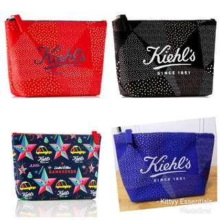 Kiehl's Holiday Canvas Pouch Bannecker (Choose Color)