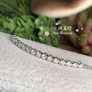 Your Diamond 永恆真鑽 18K750 鑽石💎手鍊