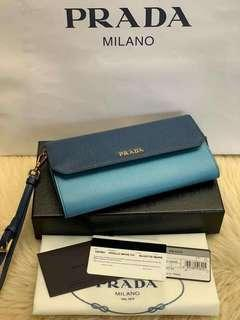 Brandnew! Prada Wallet two toned