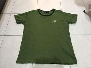 Fred perry army green tshirt made in japan
