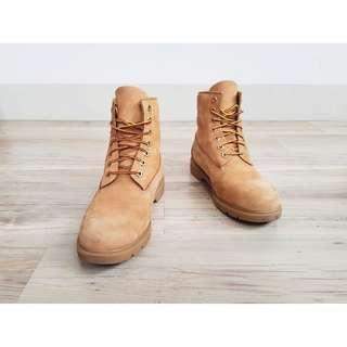 8.5號 Timberland 小麥黃 全麂皮 經典七孔六吋黃靴 休閒靴 中筒靴 登山靴 高筒二手 嘻哈潮流