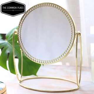 INSTOCK Vintage Gold Table Vanity Makeup Mirror Double Sided
