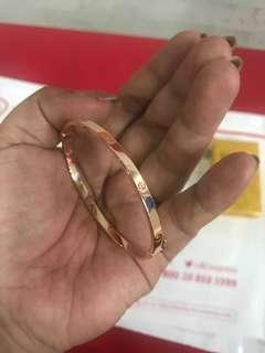 18k saudi gold Rose gold cartier inspired (Clip type)